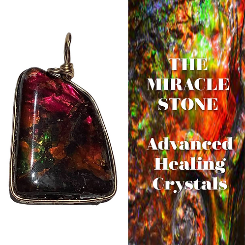 Ammolite Pendant Direct From Canada. Stone Of Miracles.  Crystal Healing