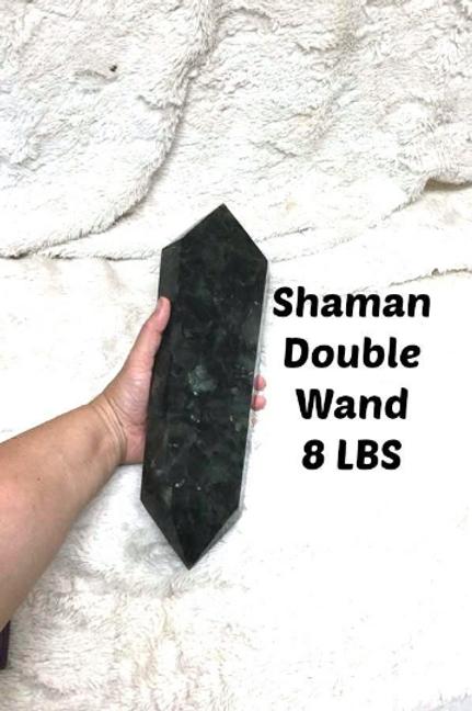 Labradorite Wand. Double Wand. Shaman's Torch. Over 8 LBS!  Crystal Healing