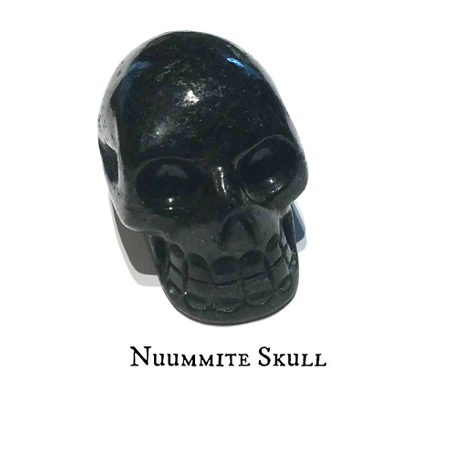 Nuummite Skull: Stargate To Anubis For Soul Protection By An Egyptian Priestess