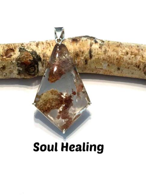 Shamanic Dream Quartz Pendant. Set In Silver. Heal Soul Trauma