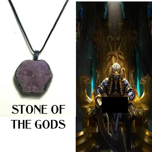 Auralite Crystal Necklace, STONE Of THE GODS. Encoded With All The Egyptian Gods
