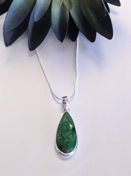 Emerald Pendant. Thoth Law Of One, Emerald Tablets.  Fused with Energy of Thoth.