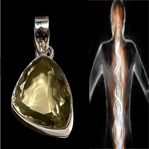 Kundalini Citrine Pendant.  Encoded By Egyptian Priestess To Hold Protection/Ene