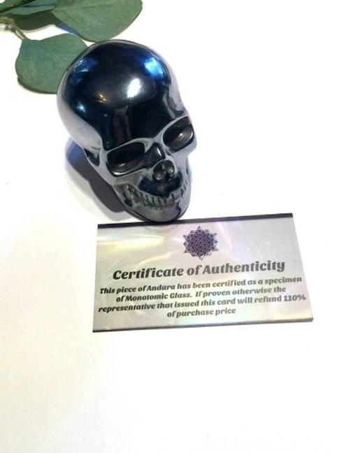 Silver Andara Monatomic Crystal Skull.  Silver Ray Andara Encoded Ascended Moses