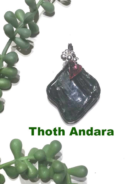 Thoth Andara Pendant.  Authenticity Card. Empath Protection