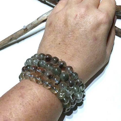 Shamanic Dream Quartz Bracelet. High Grade. Blessed By A Shaman For Soul Healing