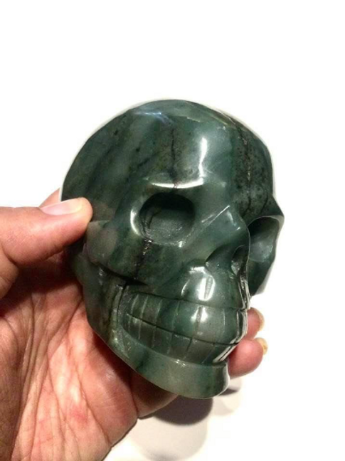 Emerald  Skull. Crystal  Infused by Egyptian  Priestess As Stargate To Thoth