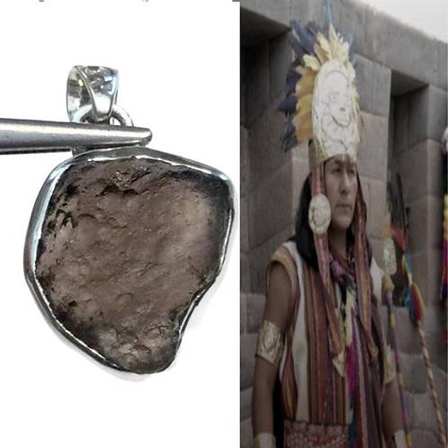 "Columbianite Necklace. Tektite. ""STONE OF LIGHT"" Rarer than Moldavite"