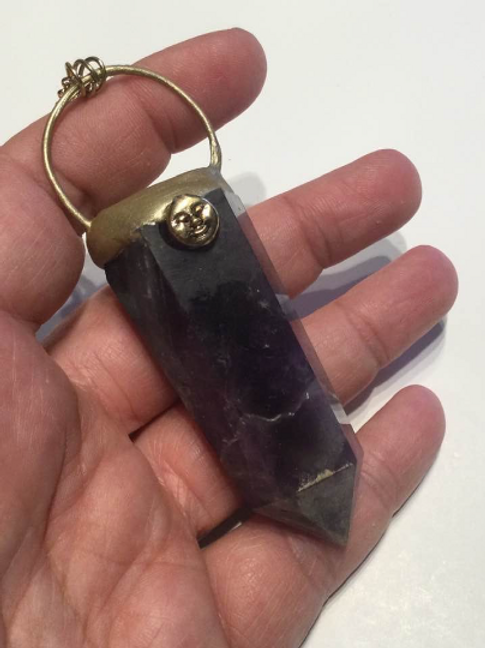 Amethyst Necklace. Full Moon Magic for Prophecy, Protection Boost Intuition.
