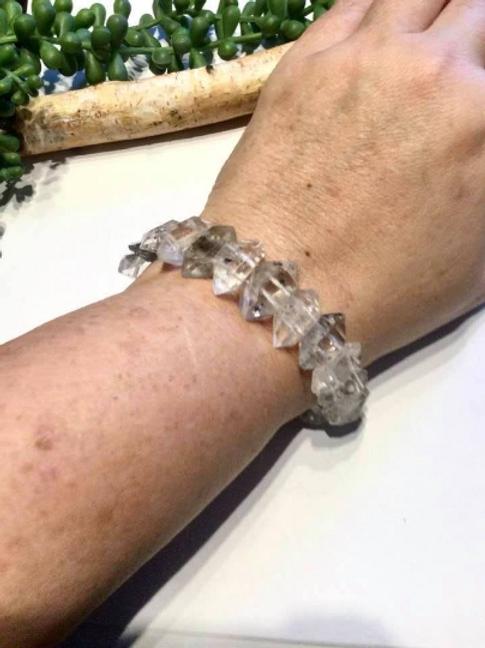 Herkimer Diamond Bracelet, Stargate To Lyra High Council And Healings
