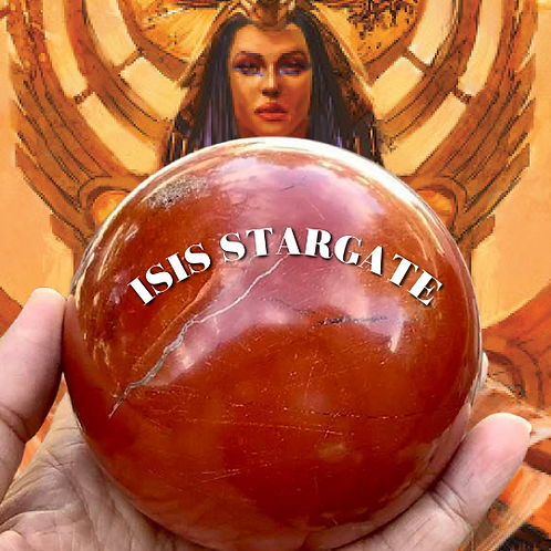 Red Jasper Crystal Ball. Encoded As A Stargate to Isis Goddess of Healing