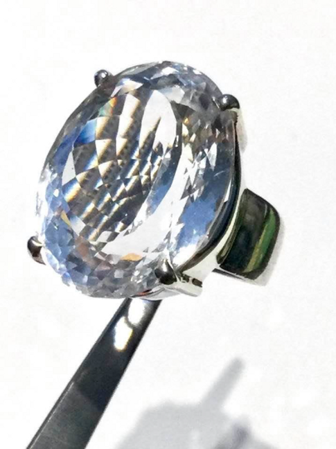 ** ON HOLD for BETSY** Danburite Ring. 76 CTS, Crystal Of The Angelic Realm.