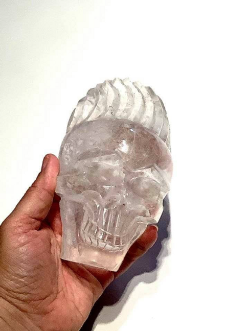 Crystal Skull Carving, Shaman Skull,  Blessed By One Of The Rarest Sacred Shaman