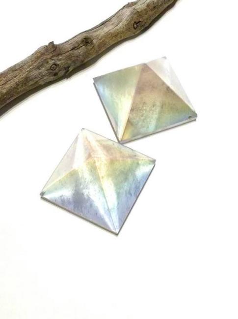 Angel Aura Crystal Pyramid Set Cencerated At Archangel Michael Vortex