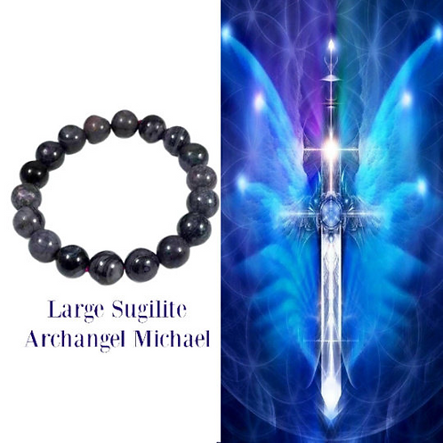 Sugilite Bracelet: Rare, Stacking, Dealing With Trauma, 10mm; Archangel Michael,