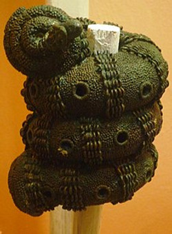 Bronze ornamental staff head
