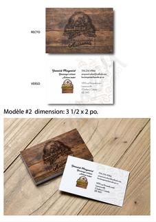 Cartes d'affaires / boulangerie artisanales