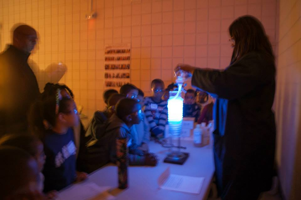 It glows! Science is fun!
