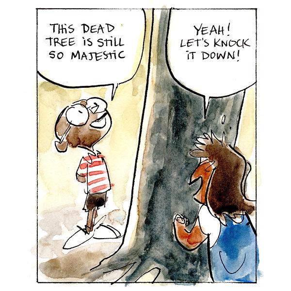 Ashima -- Comic Strip  -- Dead Tree 01 -
