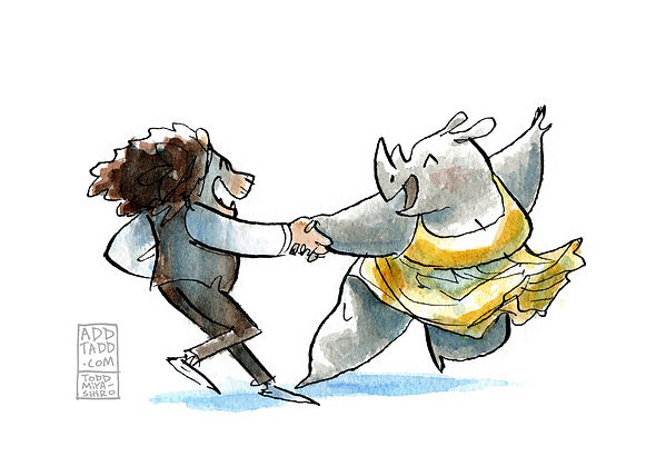 Couple Dancing -- Rhino and Lion.jpg