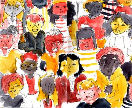 WC -- AM Pages -- Diverse Kids Saying Hi