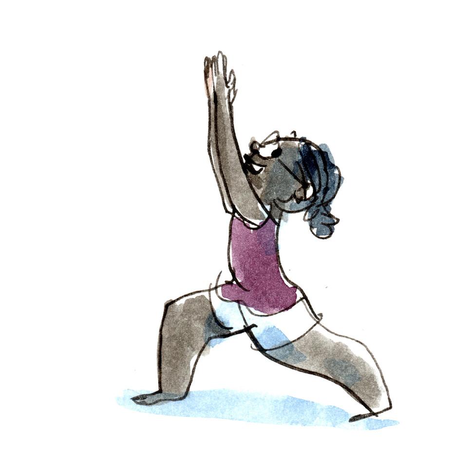 Sketchbook -- WC Human Kids Yoga 01 Warr