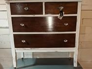 White Dresser with Stained drawers