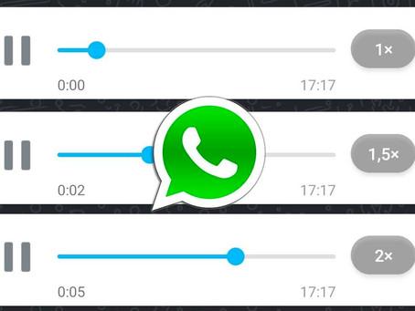 Ya puedes acelerar los audios de WhatsApp