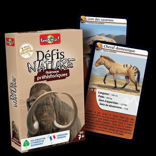 Défis nature animaux préhistorique