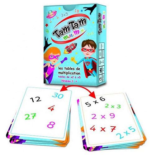 Tam tam Les tables de multiplications - niveau 1