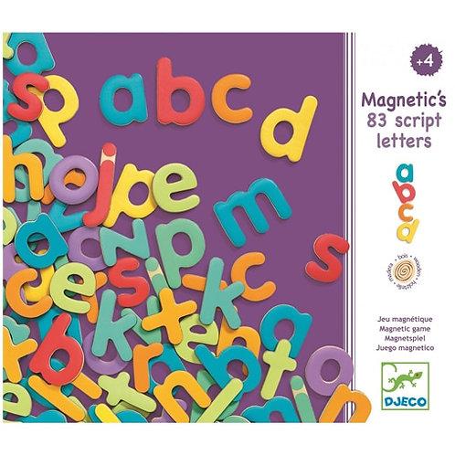 83 lettres script magnétiques