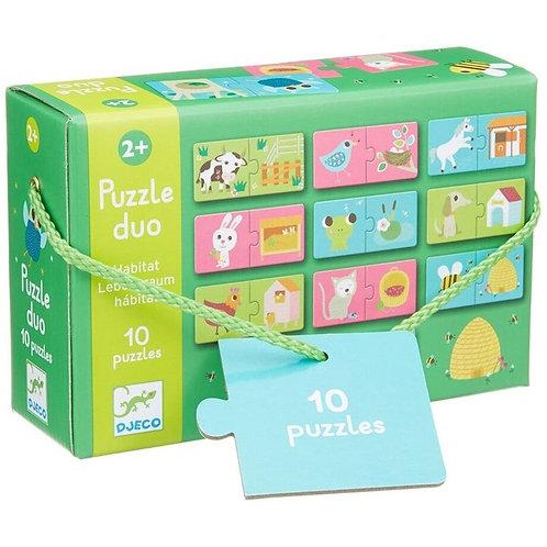 Puzzle duo - 10 puzzles - Habitat