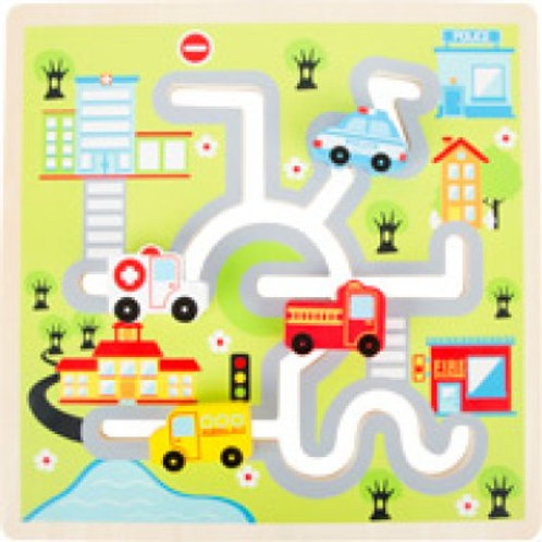 Labyrinthe véhicules à glisser