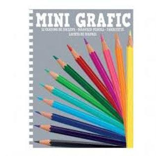 Mini graphic crayons de couleurs
