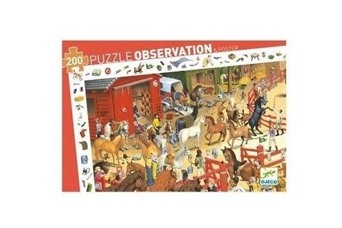 Puzzle - observation Equitation