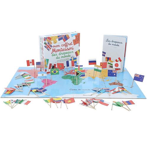 Coffret Montessori Les drapeaux