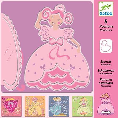 5 pochoirs princesses
