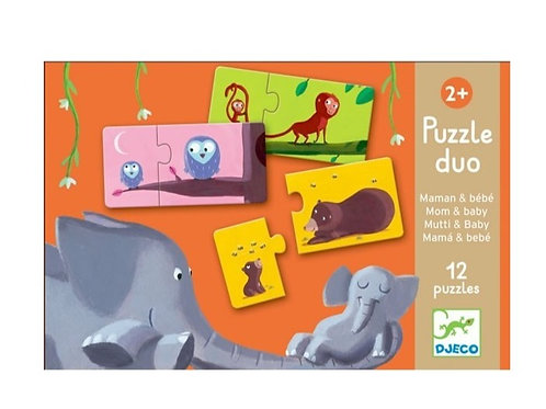 Puzzle duo - 10 puzzles - Maman et bébé