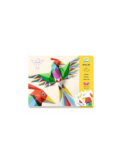 Poster 3D Perroquet