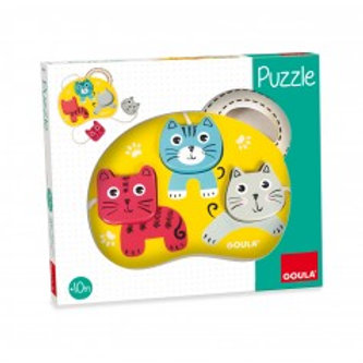 Puzzle chats ficelle