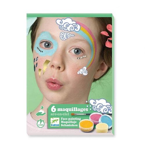 6 maquillages arc-en-ciel
