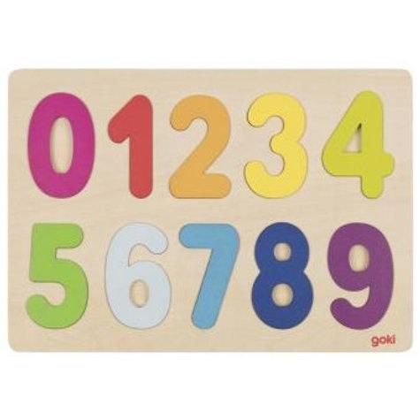 Puzzle des chiffres en bois épuré