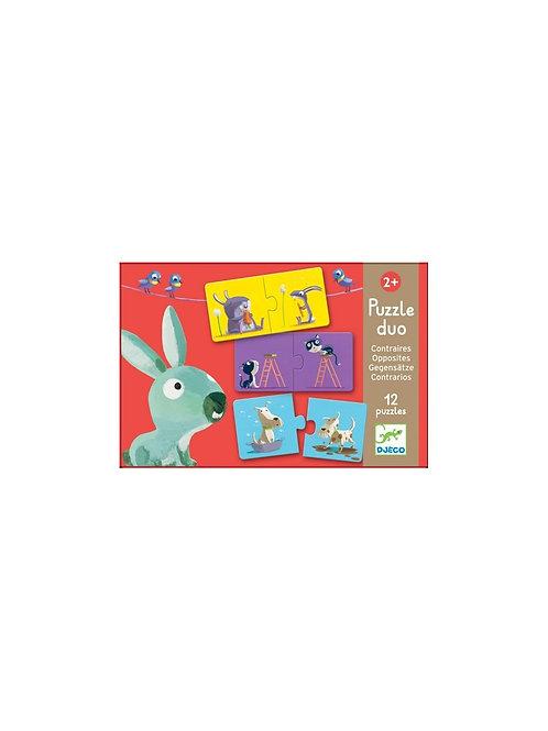 Puzzle duo - 10 puzzles - Contraires