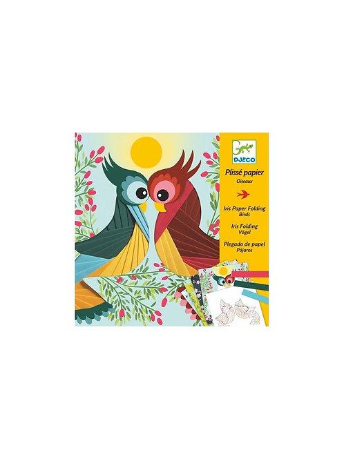 Papier plissé oiseaux