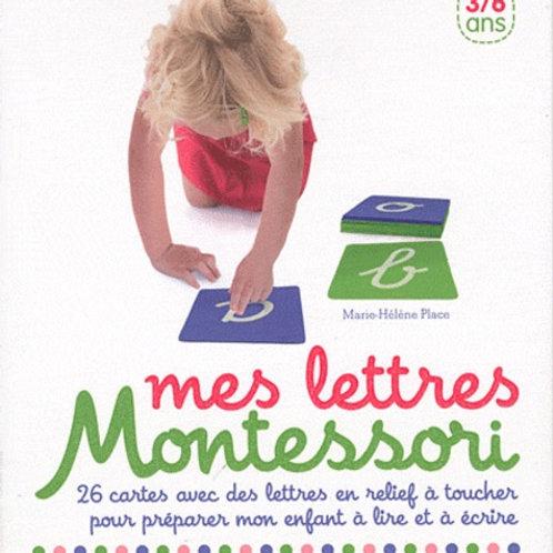 Coffret Montessori Mes lettres rugueuses