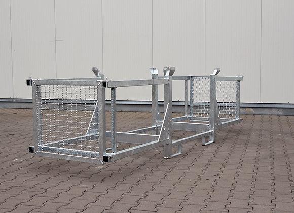 Transport- u. Lagergestell mit 2 Fächern und Seitenschutz 320x80x87