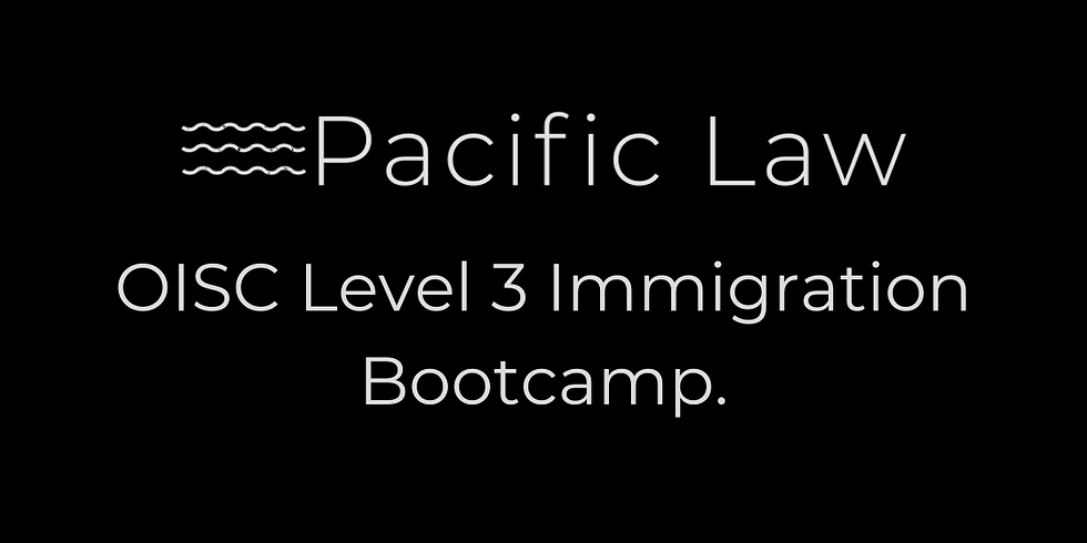 OISC Level 3 Immigration Bootcamp.