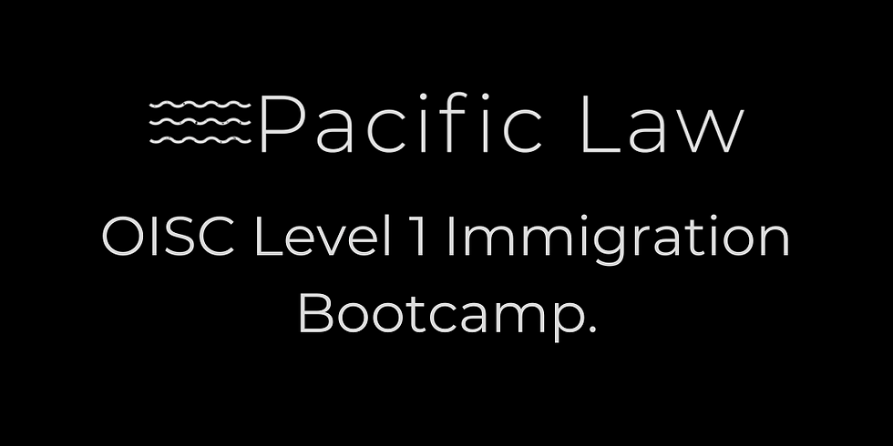 OISC Level 1 Immigration Bootcamp