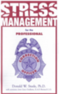 Stress Management for the Professional Corrections Officer cover