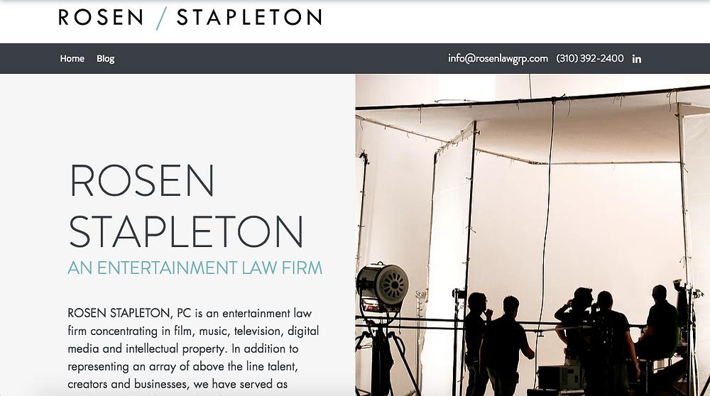 Rosen Stapleton new website, 2018 rebrand